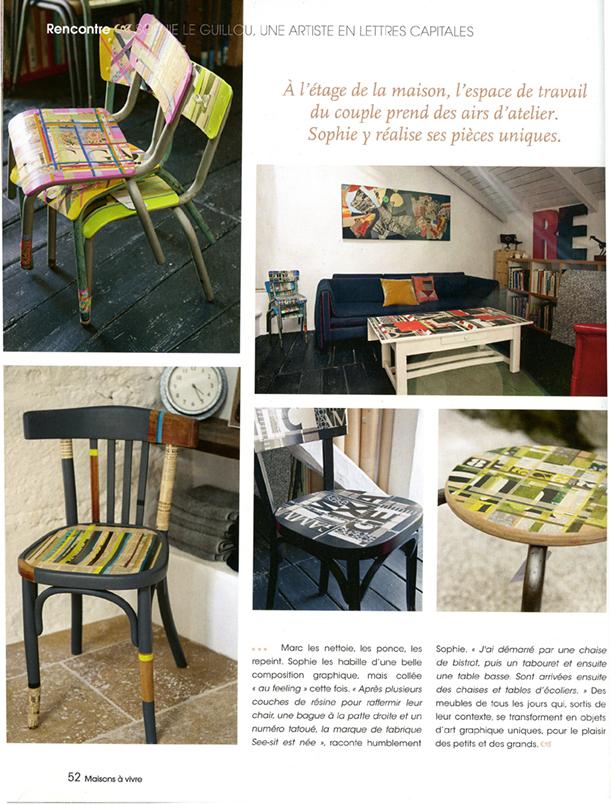Le studio et chaises